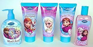 amazon com disney frozen bathroom soap set of 5 1 bubble bath