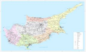 map of cyprus road map of cyprus tourist map of cyprus maps of districts in