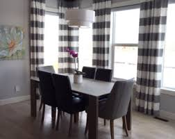 Tan And White Horizontal Striped Curtains Pinch Pleat Top Black And Tan Linen Anderson Buffalo Check