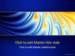 free original blue ppt template
