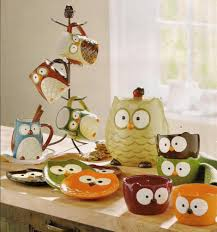 owl decor must have mug holder and mugs for new kitchen new house ideas