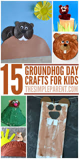 groundhog day crafts for kids whether he sees his shadow or not