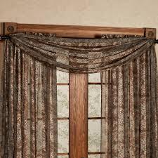 mesmerizing scarf valances for window 42 scarf valance window treatment ideas leopard stripe sheer window jpg