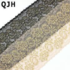 black lace ribbon 1y 20cm width black lace trim gold thread embroidery beige lace