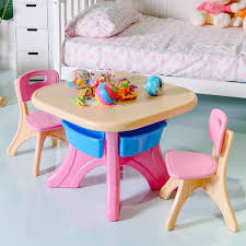 play table and chairs in outdoor 3 piece plastic children play table chair set by