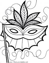 mardi gras mask coloring coloring pages kids collection