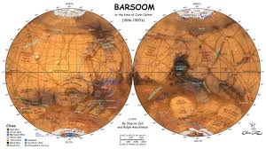Azimuthal Map Erbzine 4851 Doom Of Barsoom By Oberon Zell