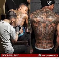 nick cannon wild u0027n out with new massive back tattoo photos