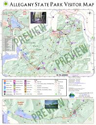 New York Appalachian Trail Map by Allegany State Park Visitors Map Enchanted Mountains Of
