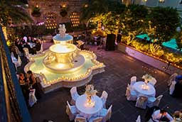 wedding venues new orleans new orleans courtyard weddings at the maison dupuy hotel