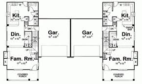 duplex floor plans for narrow lots 14 surprisingly duplex plans narrow lot architecture plans 62342