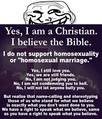 Traditional Marriage Meme - honest christian meme i am a christian i believe in the bible