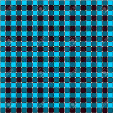 Blau Schwarz Muster Blau Schwarz Tischdecke Muster Hintergrund Lizenzfreie Fotos