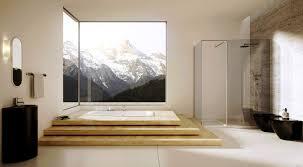 bathroom modern designs with great detailing and bathroom elegant japanese ideas tube wooden deck bathtub pedestal sink mirror faucet glass door