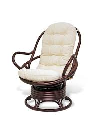 Swivel Rocker Patio Chair by Amazon Com Java Swivel Rocking Chair Dark Brown With Cushion