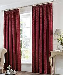 damask red curtains curtain lined ready made curtains vintage