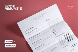 Indesign Template Resume Resume Template Cv Template Professional Resume Modern Cv