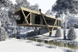 3d amazing constructivism style house cgtrader