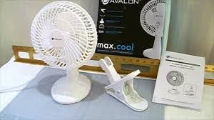 6 Inch Oscillating Desk Fan Avalon 6 Inch Clip On Fan With Attachable Table Top Base Youtube