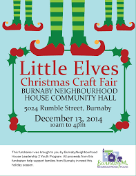 burnaby neighbourhood house little elves christmas craft fair