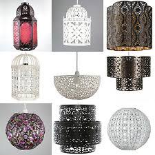 modern black metal birdcage ceiling light pendant shade shabby