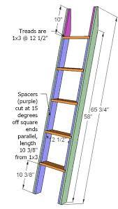 wooden loft ladder plans woodproject