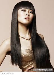 zero degree haircut sleek long hair style