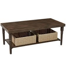 Dark Brown Wicker Patio Furniture by Hampton Bay Spring Haven Brown All Weather Wicker Patio Coffee