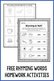 free printable cut and paste rhyming worksheets for kindergarten