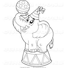 circus clipart of a coloring page outline of a cute circus