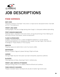 Sample Resume For Hostess by Resume Fast Food Download Restaurant Server Resume Dietary