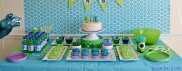 Monster Inc Baby Shower Decorations Monsters Inc 2nd Birthday Party Stitch And Pink