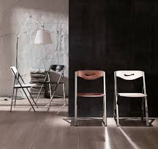 contemporary chair folding wooden metal s215 ripiego by g