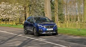new peugeot 3008 crossover suv road test review 1 2 petrol manual gt line magnetic blue photo 03 jpg