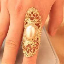 big finger rings images Fashion retro punk pearl metallic long ring elegant classic full jpg