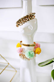 bracelet diy images Pom pom bracelet diy a beautiful mess