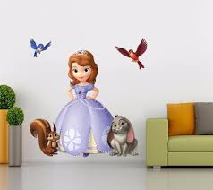 sofia the first wall decals disney princess stickers girls room sofia the first decal removable graphic wall sticker home decor art