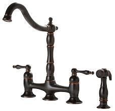 premier kitchen faucets premier faucet charlestown two handle bridge style kitchen faucet