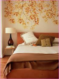 bedroom mural comfortable autumn bedroom interior decorating ideas with mural