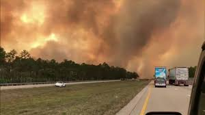 Collier County Flood Maps Brush Fire Shuts Down Stretch Of Alligator Alley In Collier