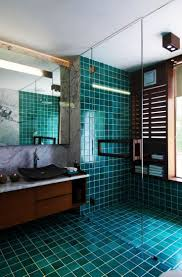183 best bathroom design ideas images on pinterest bathroom tile gorgeous deep teal tile and dark walnut wood bathroom design modern bathroom courtyard house by hiren patel architects