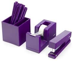 Purple Desk Organizers Desk Accessories Desk Accessories Set