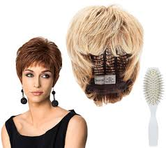 hairdo by hairuwear textured cut wig brush page 1 qvc