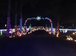 holiday light show near me sowell s north pole christmas light display simply pensacola