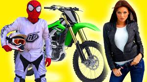 yamaha motocross helmet spiderman bought a motorcycle yamaha and started race motocross vs