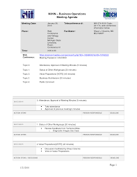 Sample Of Meeting Agenda Template by Business Operations Meeting Agenda Sample With Topics By Tzq69846