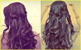 braided hairstyles with hair down prom hair down with braid easy prom half up updo how to waterfall
