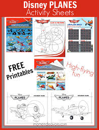 free printable disney planes activities u0026 coloring sheets