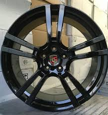 porsche cayenne black rims 22 rims fit porsche cayenne turbo gloss black wheels tires