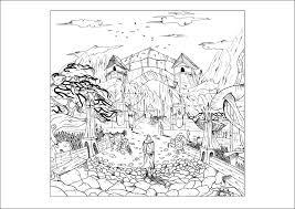 landscape by valentin 1 myths u0026 legends coloring pages for
